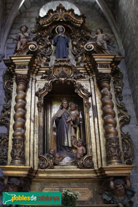 Torroella de Montgrí - Església de Sant Genís, altar lateral barroc