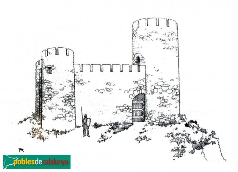 Ullastret - Recreació del Castell de Sant Andreu