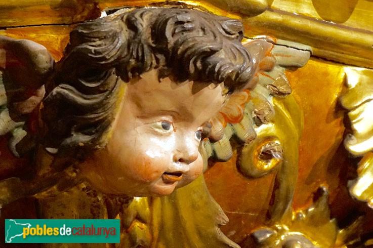 Terrassa - Església de Sant Pere, detall retaule barroc