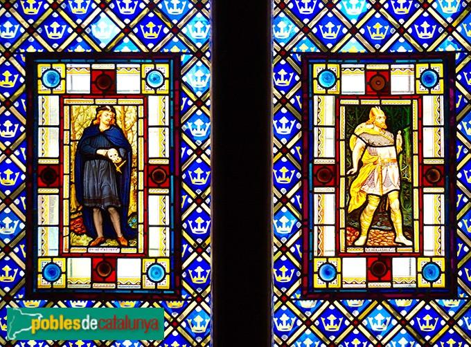 Barcelona - Palau Güel, vitrall dormitori