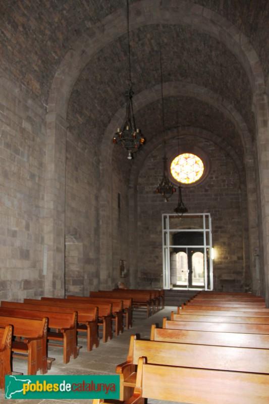 L'Estany - Església del Monestir, nau