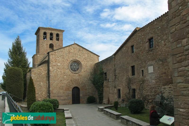 L'Estany - Església del Monestir, façana