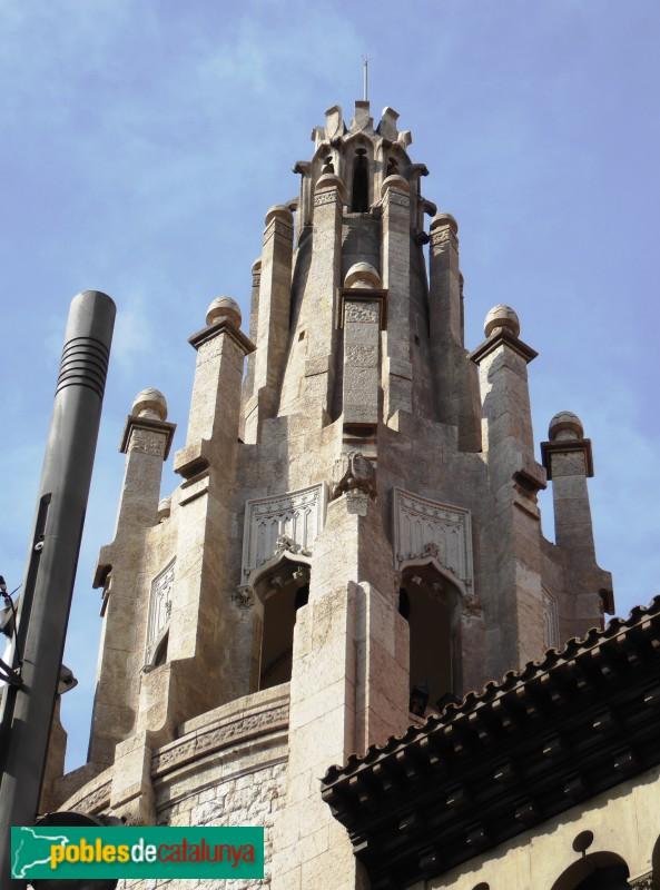 Edifici de la caixa de pensions barcelona via laietana pobles de catalunya - Caixa d estalvis i pensions de barcelona oficinas ...