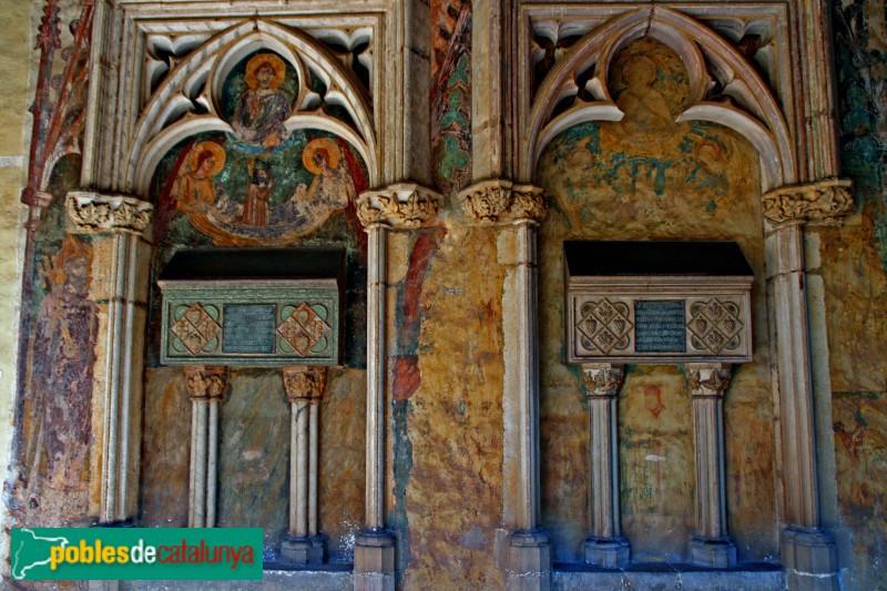Barcelona - Monestir de Pedralbes, tombes d´Elionor de Pinós i Constança de Cardona