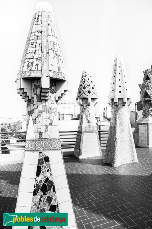 Barcelona - Palau Güell, xemeneies