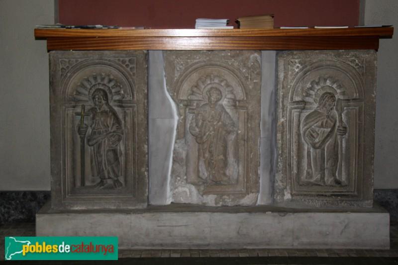Sant Feliu de Llobregat - Sant Llorenç: restes d'un retaule antic