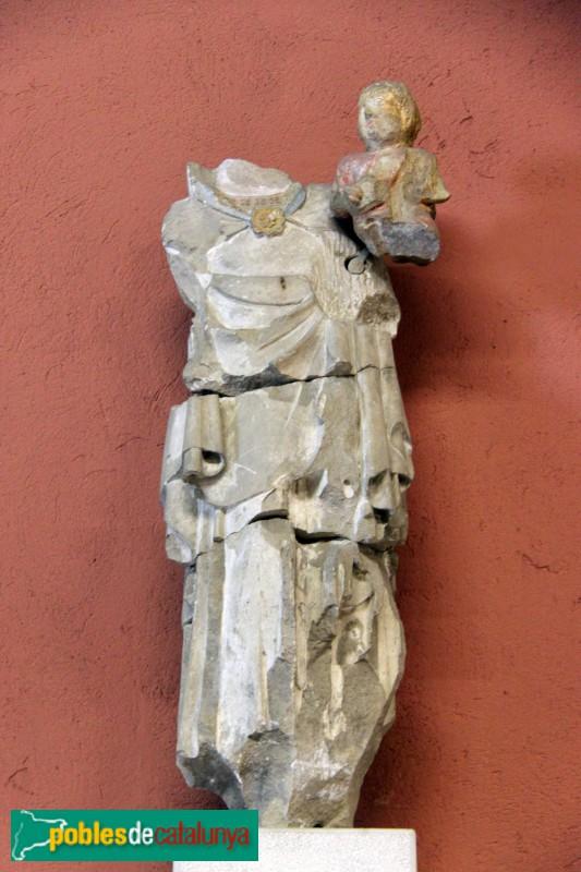 Sant Feliu de Llobregat - Sant Llorenç: restes d'una imatge gòtica