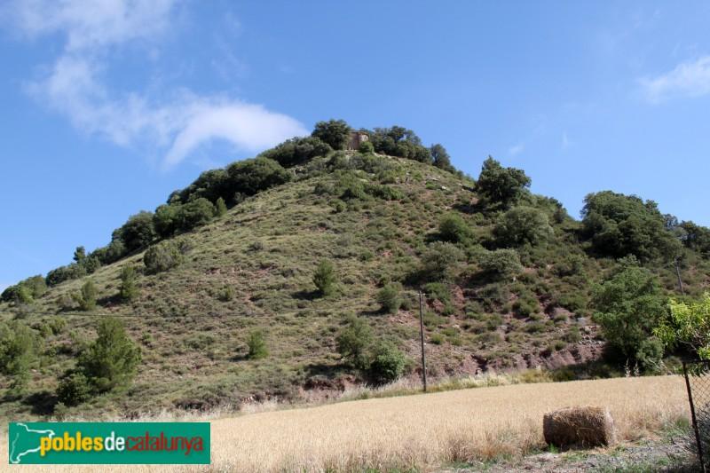 Moià - Muntanya de Sant Andreu, on hi ha el castell de Clarà