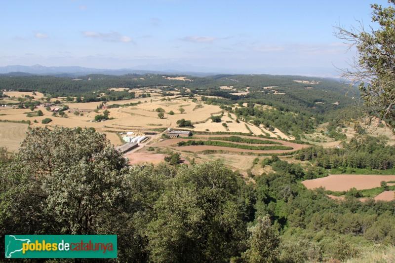 Moià - Panoràmica des del castell de Clarà