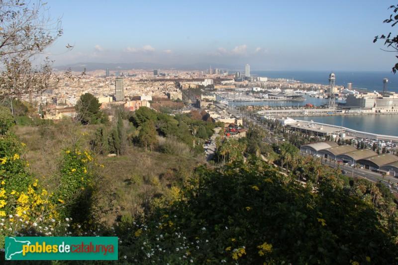 Barcelona - Panoràmica des dels Jardins del Mirador de l'Alcalde