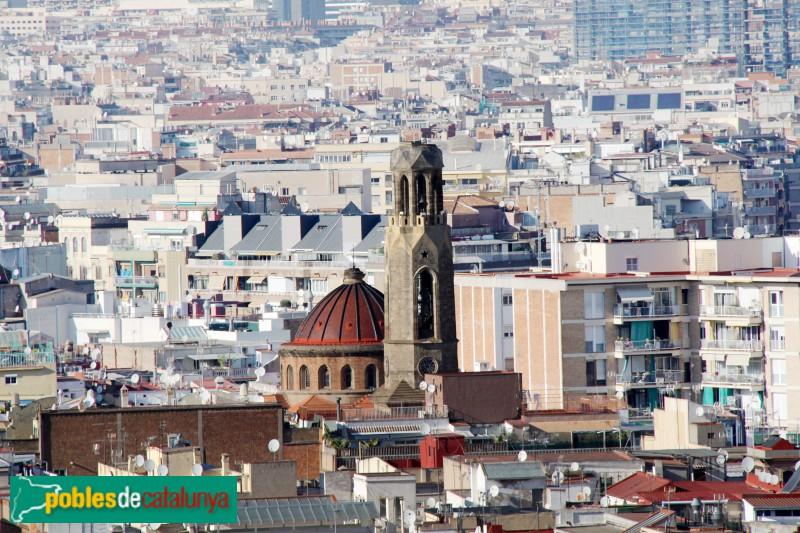 Barcelona - Església de Santa Madrona, des de Montjuïc