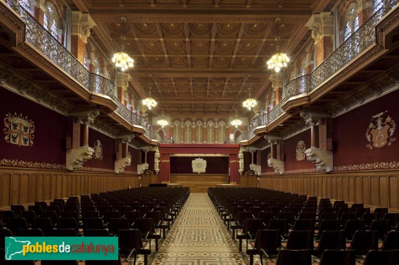 Barcelona - Col·legi Sant Ignasi, sala d'actes