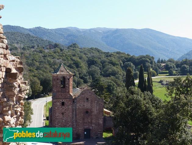 Sant Martí del Brull. Vista des del Castell