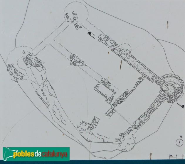 Castell del Brull. Planta. Servei Patrimoni Diputació