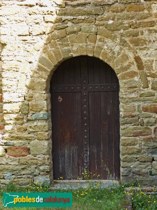 Porta lateral, façana sud