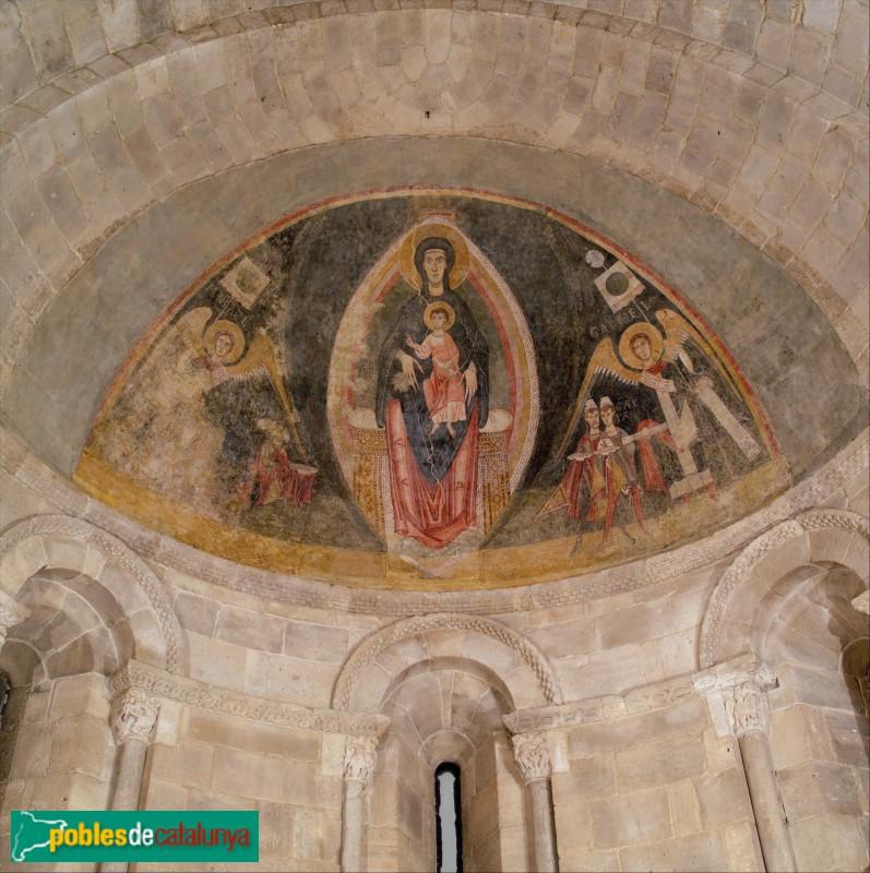 Pintura mural romànica procedent de Santa Maria de Cap d'Aran que es conserva al museu The Cloisters