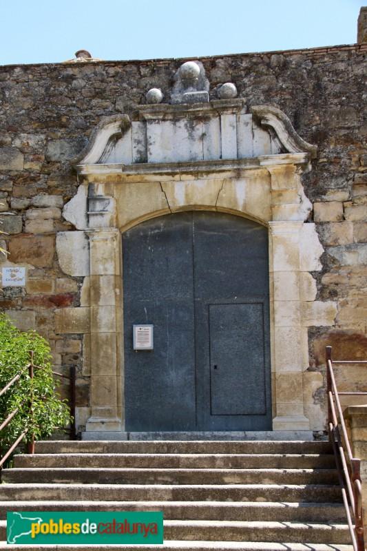 Canapost - Església de Sant Esteve, porta barroca
