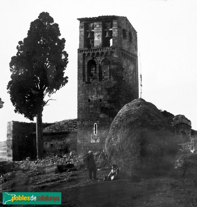 Canapost - Església de Sant Esteve a inicis segle XX
