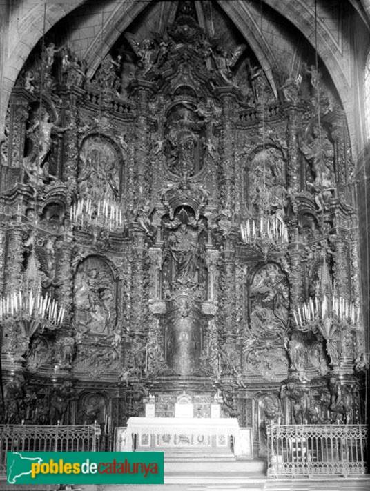Palafrugell - Retaule cremat de l'església de Sant Martí