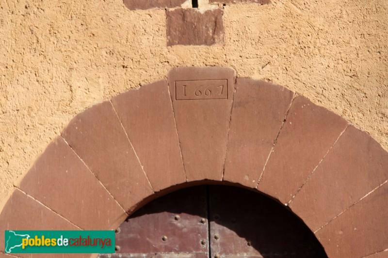 Torrelles de Llobregat - Can Güell, data a la llinda