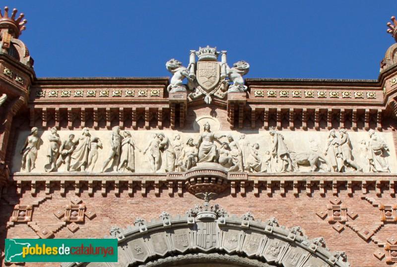 Barcelona - Arc de Triomf, relleu de Josep Llimona