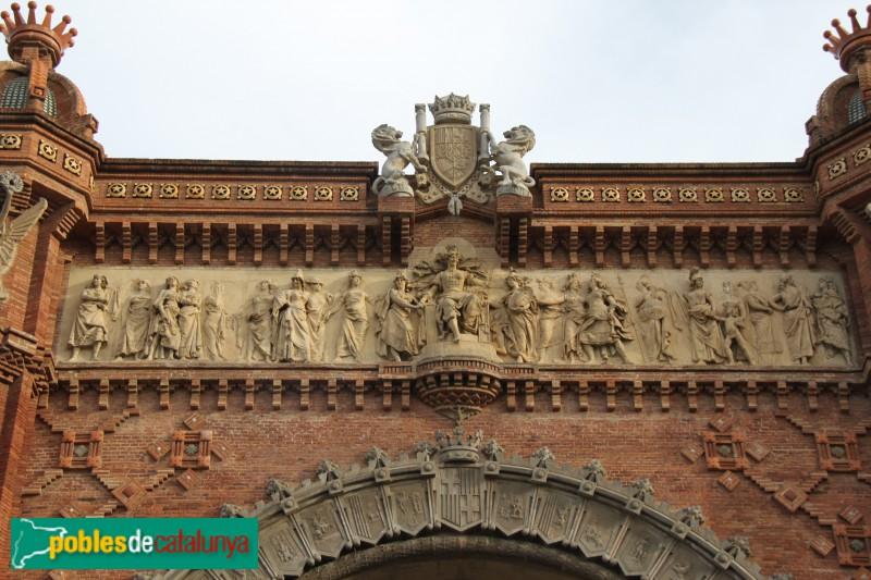Barcelona - Arc de Triomf, relleu de Josep Reynés (1)