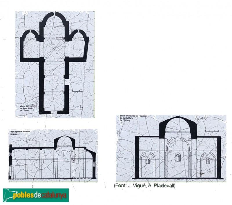 L'Estany - Església del Monestir