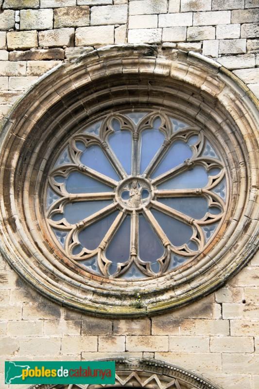 Verdú - Església de Santa Maria, rosassa