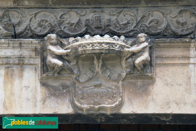 Verdú - Església de Santa Maria, portada renaixentista, detall