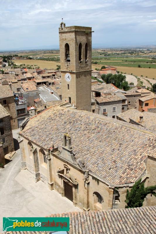 Verdú - Església de Santa Maria, des del castell