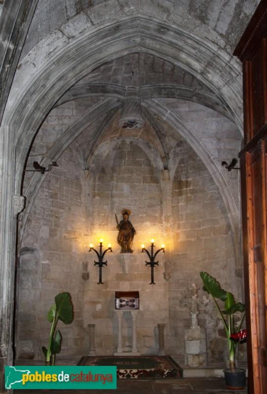 Verdú - Església de Santa Maria, capella de Sant Flavià
