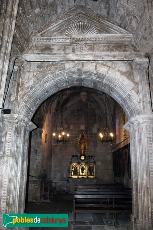 Verdú - Església de Santa Maria, capella del Sagrat Cor