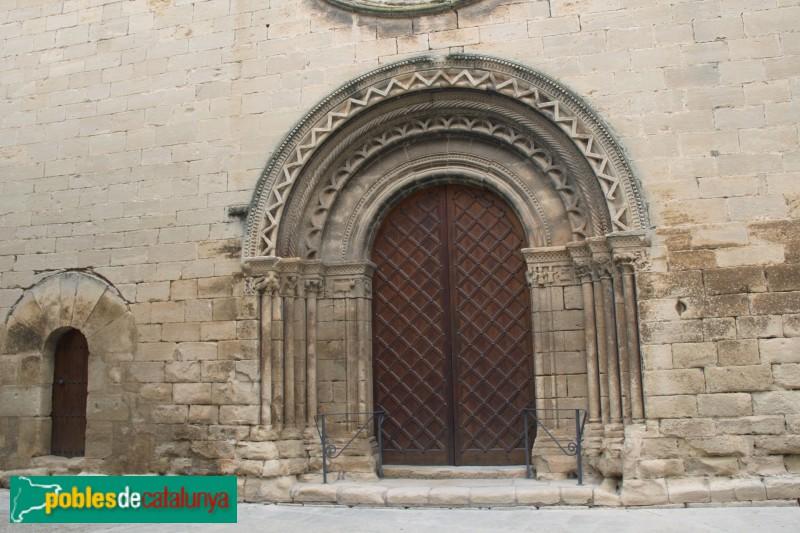 Verdú - Portada romànica de l'església de Santa Maria