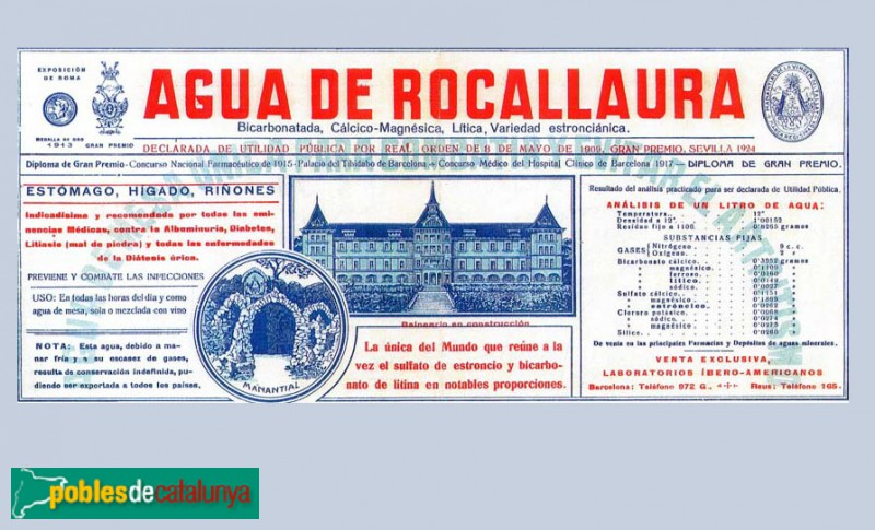 Vallbona de les Monges - Balneari-Hotel Rocallaura, projecte original