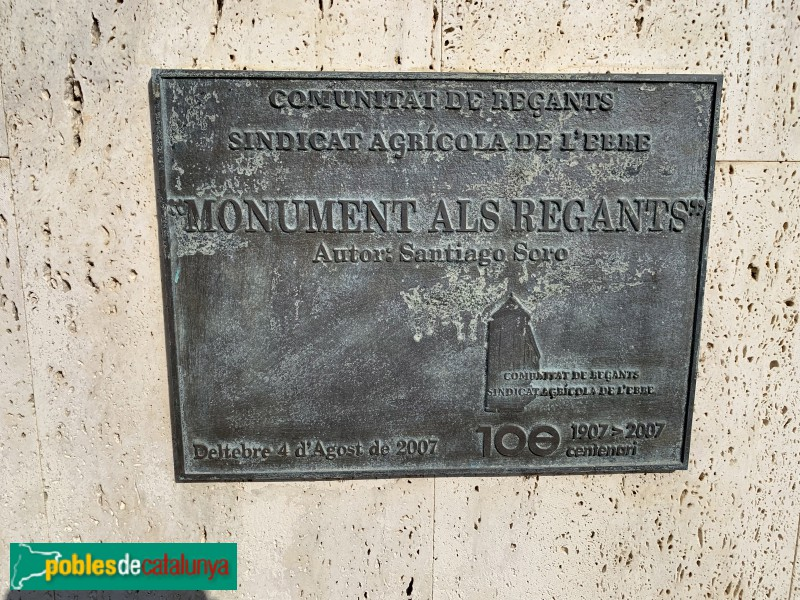 Deltebre - Monument asl Regants